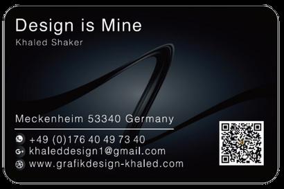 Visitenkarten Grafikdesigninarabischs Webseite