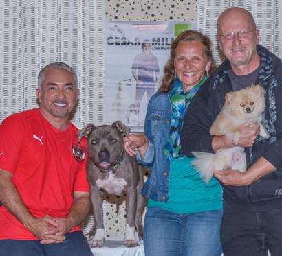 """""""Unser"""" Rudi und Andrea backstage bei Cesar Millan"""