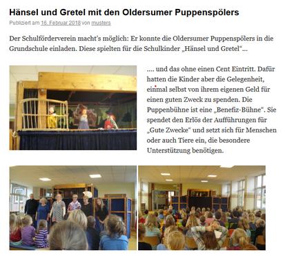 Webseite der GS Oldersum