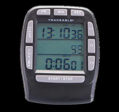 Timer contador de tres canales con certificado trazable a NIST 5025