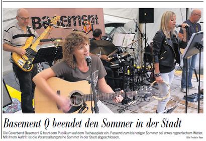 Vereinsmitglieder aktiv: Basement Q, Sommerbühne Glarus / Südostschweiz, 9. August 2014
