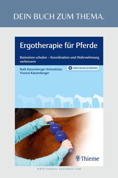 Das Fachbuch zum Thema Ergotherapie für Pferde: Basissinne schulen - Koordinatione und Wahrnehmung verbessern.