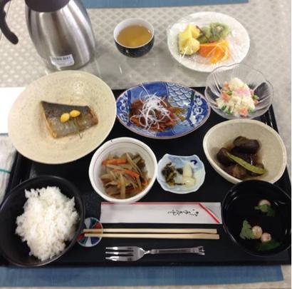 病院での昼食