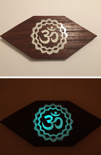 #Türschild Glow in the Dark   #Schild #Deko #Hand Made #Einzelstück #OM Deko