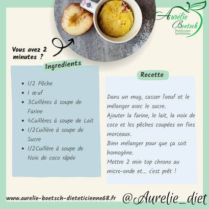 dessert diététique mulhouse recette nutrition
