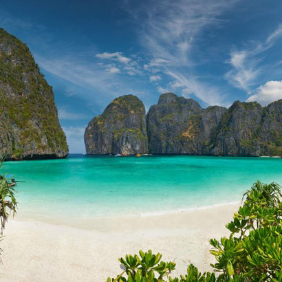 Maya Bay, la spiaggia resa celebre dal film THE BEACH (foto dal web)