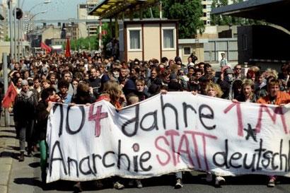 Autonom demo i Østberlin, maj 1990