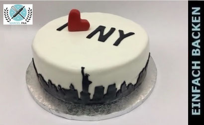 New York Cake mit Skyline
