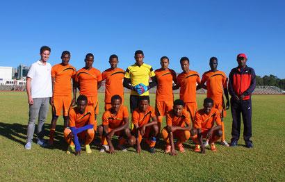 Jochem als assistent-trainer bij het Ethiopisch voetbalteam U20