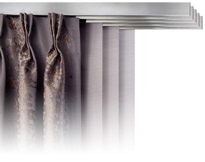 individueller Flächenvorhang, moderner Flächenvorhang, Kombination aus Flächenvorhang und Vorhang, Raumausstatter Langenselbold