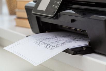 Tinten Drucker Reparatur, Druckkopfreinigung