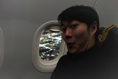 初海外 大興奮の菖太郎