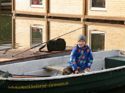 Angelurlaub MV 2017, Angeln mit Kindern, Angelbootsverleih MV Neustrelitz