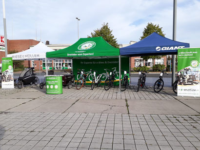 erster Elektromobilitätstag in Oberhausen mit e-Bike, Pedelec, Eletrodreirad, Lasten e-Bike Probefahrten