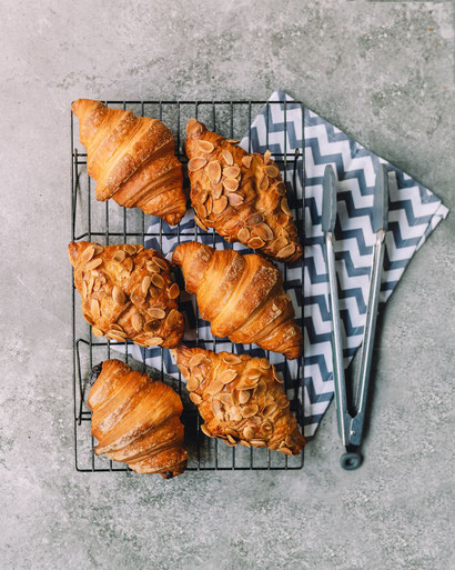 sehr lecker aussehende Croissants