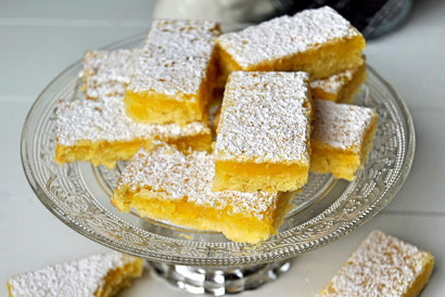 Lemon Bars, super zitronige Kuchenschnitten