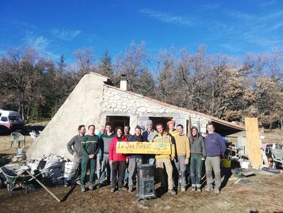 Une partie de l'équipe au chantier du Jas Forest / déc 19