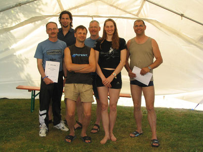 Die frischgebackenen AIDA-Freediver mit Apnoe-Rekordhalterin Katja Kerenburg