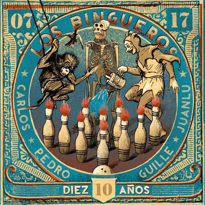 Album cover of los Bingueros - Diez Años - with Miki Pannell music video