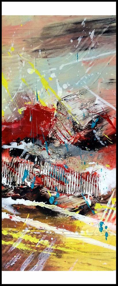 "WVZ 020/2016 - ""so  geht Leidenschaft"" / Format 90 x 40 cm / Acryl auf Leinwand / gerahmt"
