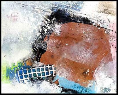 """WVZ 06/2017 / """"Geheimnisvolles fasziniert"""" / Acryl auf Leinwand / Format 80 x 100 / verkauft"""