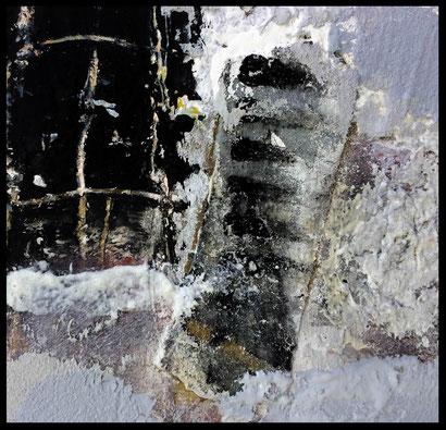 "WVZ 022/2016 - ""be careful"" / Acryl auf Leinwand im Schattenfugenrahmen/ 100 x 100 cm/ verkauft"