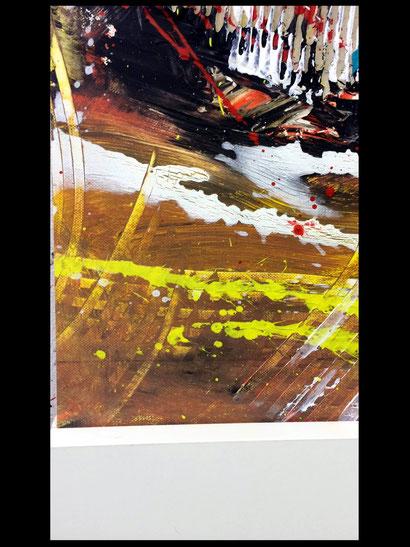 WVZ 020/2016 / so geht Leidenschaft/ Format 90 x 40 cm, Acryl auf Leinwand / zeigt Rahmung