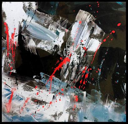 WVZ 012/2016 / Farb(en)los / Format 80 x 80 cm/ Acryl auf Leinwand / verkauft