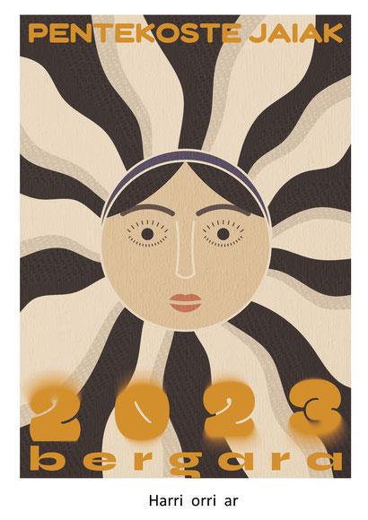 Cartel y programa de las Fiestas de Pentecostés 2015 en Bergara - Pentekoste Jaiak