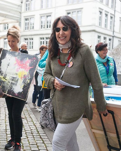 Beatrice Ganz am ArtWalk in Bremgarten 2016