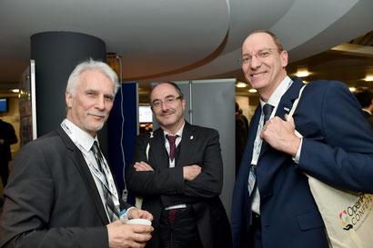 Norman Heydenreich im Gespräch mit IPMA President  Jesús Martínez Almela und Executive Director  Amin Saidoun