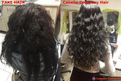 Cabello Company hochwertiges Echthaar im Vergleich zu Fake Haar