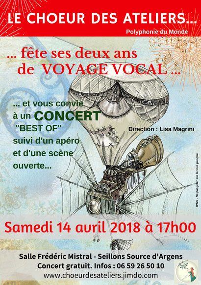 polyphonies du monde, concert anniversaire du choeur des ateliers, direction Lisa Magrini