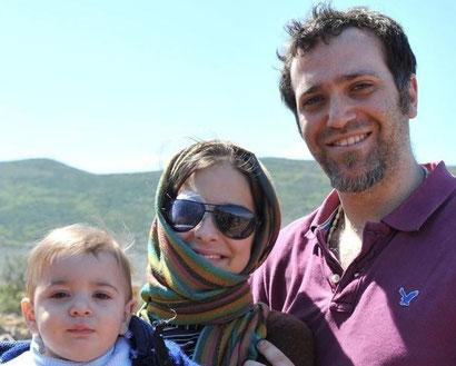 Chiara, con il Marito Enrico e il figlio Francesco