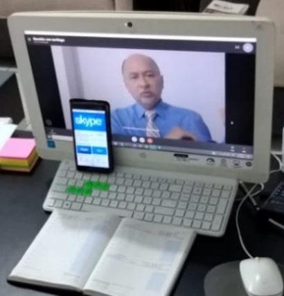 Solicitar audiencia al tribunal penal videoconferencia  por el civid-19