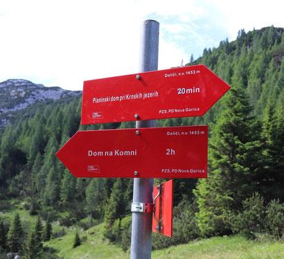 Schild Triglav Nationalpark Komni