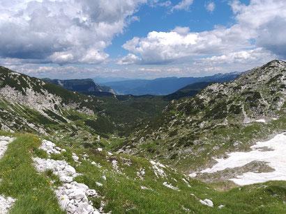 Blick in Richtung Bohinj See - Triglav Nationalpark