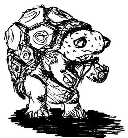 Sprachbegabte Schildkröte, die Zaubern kann. Er ist ein König, daher muss es noch weitere geben. Ob er herrscht oder Untertanen hat ist unklar.