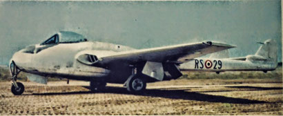 "DeHaviland DH100 ""Vampire"" Reparto Sperimentale."