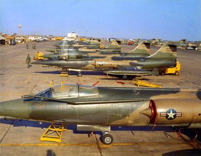 Lo Schieramento degli F-104 a DaNang.