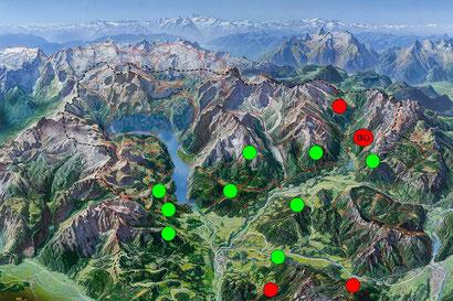 Flugverbotszonen f. Gleitschirme (Nationalpark Berchtesgaden)