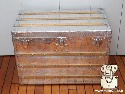 Louis Vuitton 1892 aluminum explorer mail trunk
