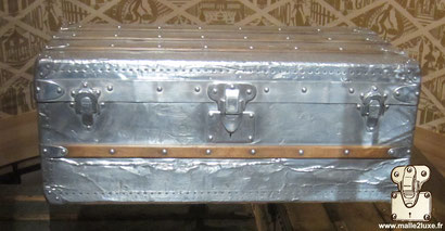 Louis Vuitton 1892 full aluminum explorer cabin trunk