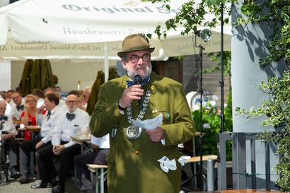 Begrüßung und Eröffnung des Festnachmittags durch unseren Präsidenten Dietmar Schwabe-Werner