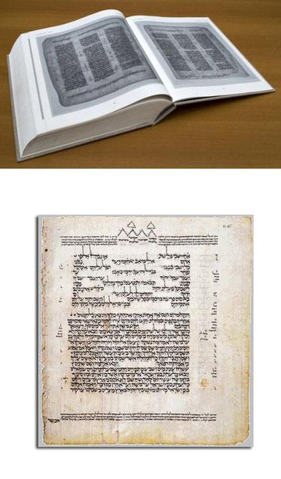 El Código de Leningrado (Código 19 A), en facsímil, el más antiguo manuscrito completo de la Biblia hebrea (1008/1009 dC)