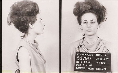 American culture photo: transvestite mugshot photos in police station