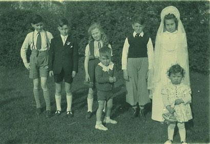 Mit Marie Louise und Anita - Raymond (li) und Robert (re)