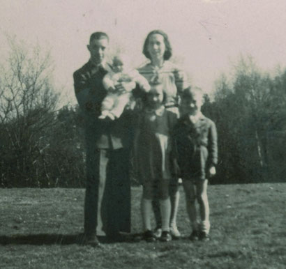 Die größere Familie im Winter 1947-1948 auf Frepert