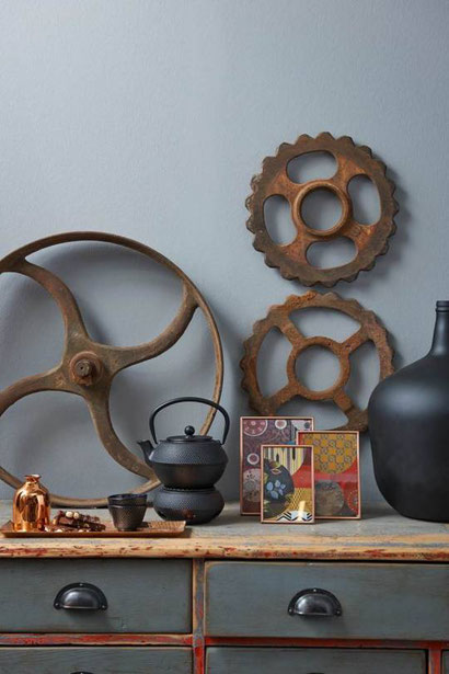 guseiserne Teekanne, asiastyle Teekanne, Kanne aus Guseisen, geeignet für Kamin