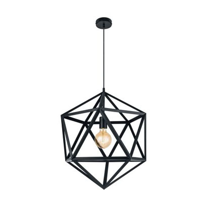 Edle Vintage Leuchten für ein stilvolles Zuhause, schwarze Lampe aus Stahl